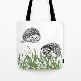 Hedgehogs print Tote Bag