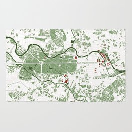 Berlin city map minimal Rug