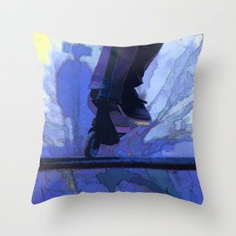 Nose Dive - Stunt Scooter Champ Throw Pillow