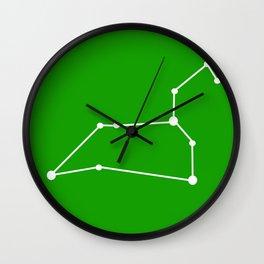 Leo (White & Green) Wall Clock