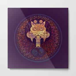 Owl Mandala Metal Print