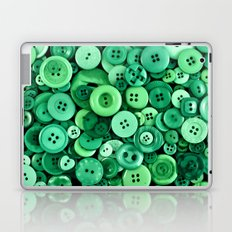 Button Green Laptop & iPad Skin