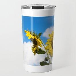 Sunflowers and clouds Travel Mug