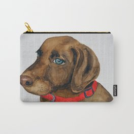 Chocolate Lab Puppy Carry-All Pouch