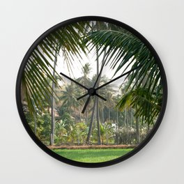 Exotic Palm Trees Wall Clock