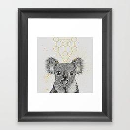 sketchy koala Framed Art Print