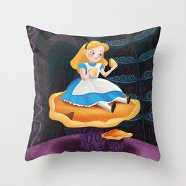 Alice in Wonderland Mushroom Throw Pillow
