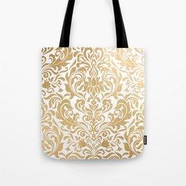 Gold foil swirls damask #12 Tote Bag