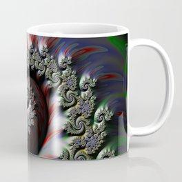 Cool Wet Paint Fractal Swirl of RGB Primary Colors Coffee Mug