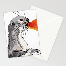 Fire Breathing Otter Stationery Cards