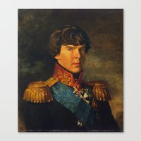 benedict Canvas Prints featuring BENEDICT by John Aslarona