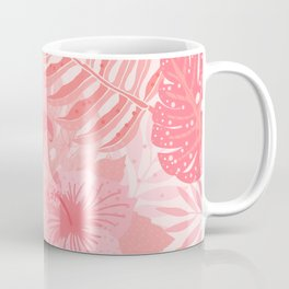 Living Coral Tropical Palm Jungle Coffee Mug