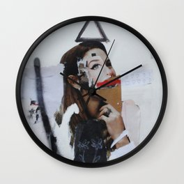 white flower Wall Clock