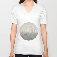fog V-neck T-shirts featuring FOG by omerfarukciftci