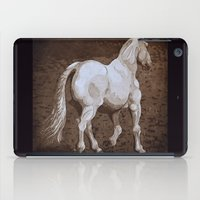 larry iPad Cases featuring Larry / Horses by Elizabeth Moriarty