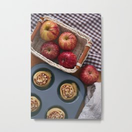 Red apple and apple roll Metal Print