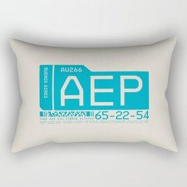 Baggage Tag C - AEP Buenos Aires Argentina Rectangular Pillow