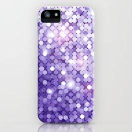 Ultra Violet Purple Glitter iPhone Case