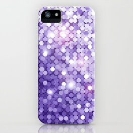 Ultra Violet Purple Glitter iPhone Case