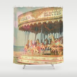 Circling Horses Shower Curtain
