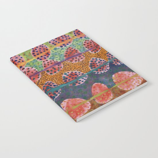 Red Round And Dotted Forms  Notebook