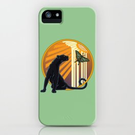 Jaguar Plain Art Deco iPhone Case