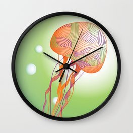 Secondary Colors Jellyfish Wall Clock