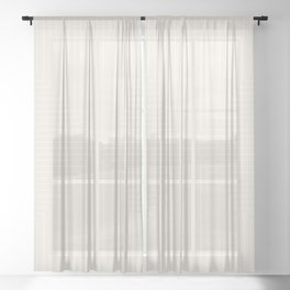 Angular Lines III Subtle Off White Sheer Curtain