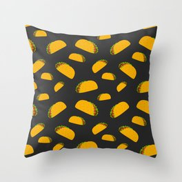Cool and fun yummy taco pattern Throw Pillow