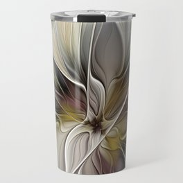Floral Abstract, Fractal Art Travel Mug