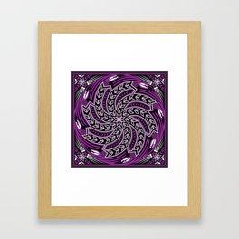 Wind Spirit (Purple) Framed Art Print