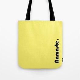Namaste Yoga Print in Yellow Tote Bag