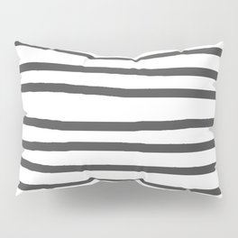 Simply Drawn Stripes in Simply Gray Pillow Sham