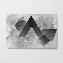 shapes in black and white Metal Print