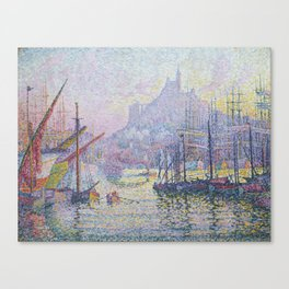 View of the Port of Marseilles Canvas Print