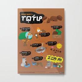 How to Make Tablea. In Baybayin! Metal Print