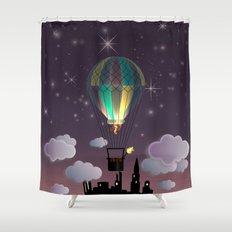 Balloon Aeronautics Night Shower Curtain