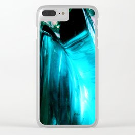 Glass Abstract Clear iPhone Case