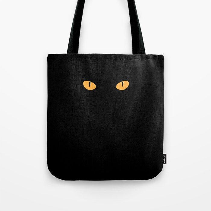 Cat eyes minimal Halloween art Tote Bag