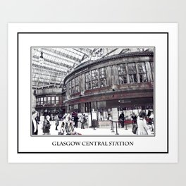 GLASGOW CENTRAL STATION Art Print