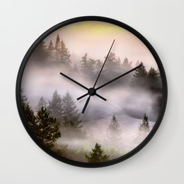 Misty Mount Tamalpais State Park Wall Clock