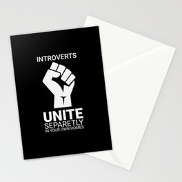 Introverts unite- Dark Stationery Cards