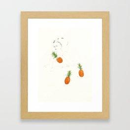 Fruit sleeping (pineapple) Framed Art Print