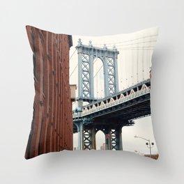 Manhattan Bridge from Dumbo Throw Pillow