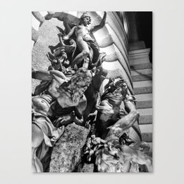 Viennese Fountain Dynamic Canvas Print