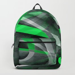 Eighties Chic Succulant Green and Grey Abstract Pattern Backpack