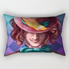 Crazy Mad Hatter Rectangular Pillow