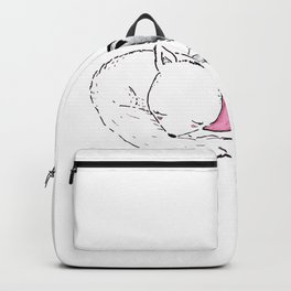 Foxes in Love Doodle Art Backpack