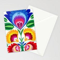 folk flower Stationery Cards