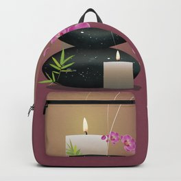 Pebbles with orchid Backpack